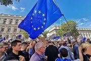 تجمع معترضان مقابل دفتر نخستوزیری انگلیس