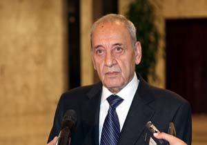 انتقاد نبیه بری از عدم مذاکره دولت لبنان با سوریه