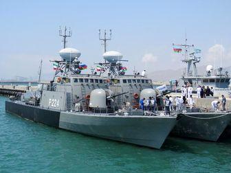 ورود ناوگروه نیروی دریایی ارتش به باکو