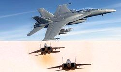 پوشش هوایی جنگندههای «اف-18» آمریکا برای عملیات صهیونیستها