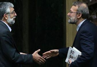 علی لاریجانی از دکتر حدادعادل عیادت کرد