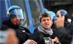 تظاهرات ایتالیایی با نماد فلسطینی + عکس
