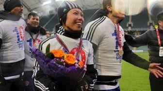 اولین زنی که قهرمان فوتبال حرفهای مردان شد +عکس