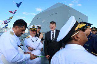 بازدید امیر خانزادی از ناوگان نیروی دریایی روسیه