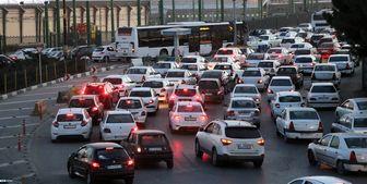 ترافیک سنگین در مسیر آزادراهی بین تهران و قزوین