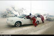 رهاسازی ۶۴۷ خودروی گرفتار برف در استان قزوین