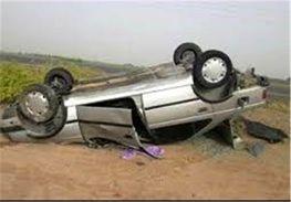پژو با ۳ برابر سرعت مجاز در سر پیج واژگون شد