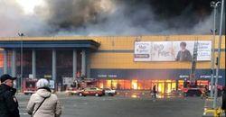 وقوع آتشسوزی مهیب در مرکز تجاری «سن پترزبورگ» روسیه