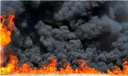 بازار گل در آتش سوخت