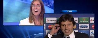 خواستگاری در پخش زنده لیگ قهرمانان اروپا