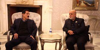 دیدار سفیر ایران در عراق با رئیس شورای عالی سیاسی اتحادیه میهنی