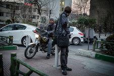 حمل بیمار با پیک موتوری