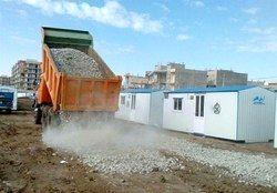 تحویل ۲۰۰۰ کانکس به زلزلهزدگان کرمانشاه توسط ارتش