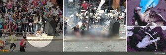انتشار تصویر کولهپشتی حاوی بمب منفجر شده در بوستون