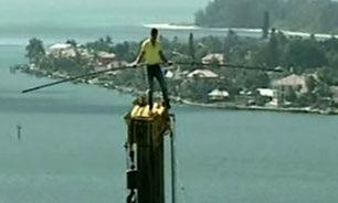 بندبازی در ارتفاع دویست متری + فیلم