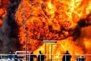 پالایشگاه حیفا در آتش سوخت+ فیلم