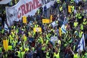 جلیقهزردهای اسپانیا تظاهرات کردند