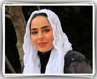 ست سبزرنگ سمانه پاکدل و همسرش /عکس