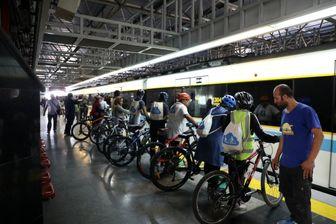 حضور دوچرخهها در متروی تهران