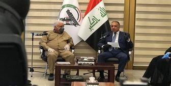 دیدار الکاظمی با رئیس سازمان الحشد الشعبی عراق