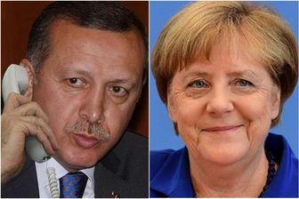 رایزنی تلفنی مرکل و اردوغان درباره سوریه