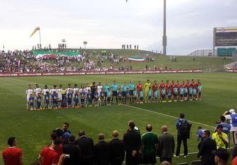 حاشیه نیمه نخست بازی ایران و عراق