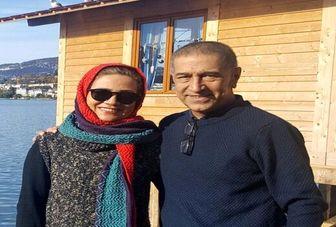 تصویری دیده نشده از خانم بازیگرو همسر زندهیادش مجید اوجی