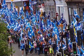 تظاهرات گسترده مردم اسکاتلند در حمایت از استقلال