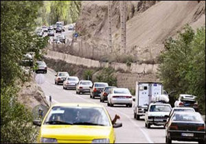 کاهش تردد جادهای