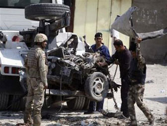Explosions kill ۵۸ in Iraq, French consulate hit