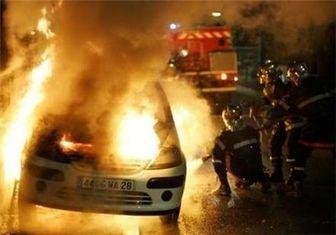 ۲۰ خودرو در حومه پاریس به آتش کشیده شد
