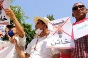 تظاهرات مردم تونس در اعتراض به توافقات سازش رژیمهای عربی