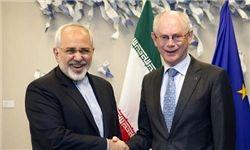 دیدار ظریف و رئیس شورای اروپا