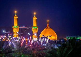 نمایی زیبا از بین الحرمین در شب اربعین/عکس
