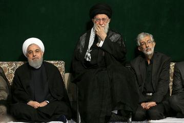 مراسم عزاداری شب تاسوعای حسینی با حضور رهبر معظم انقلاب/ گزارش تصویری