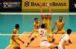 آغاز دومین مسابقه والیبال ایران و برزیل