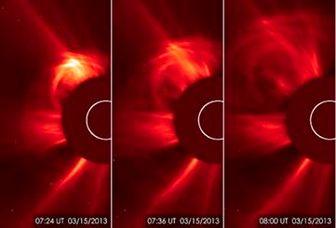 فوران ذرات خورشیدی به سوی زمین