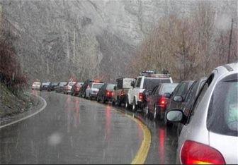 بارندگی در محورهای کوهستانی استان سمنان