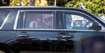 حضور ترامپ در گردهمایی روز «رئیسجمهور» با اتومبیل مخصوص+فیلم