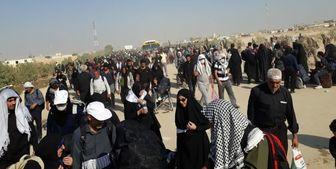 بازگشت زائران اربعین حسینی از مرز شلمچه/ عکس