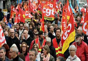 فراخوان اتحادیه کارمندان فرانسوی برای برگزاری تظاهرات