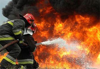 آتش سوزی در انبار علوفه دهبرآفتاب