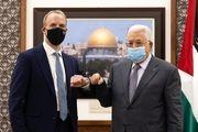 دیدار وزیر امور خارجه انگلیس و محمود عباس
