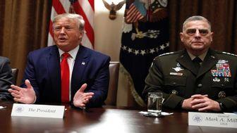 افشای درگیری لفظی ترامپ با رئیس نیروهای مسلح آمریکا