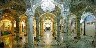 ارسال ۴۵۰ ستون سنگی برای تکمیل صحن حضرت زهرا (س)