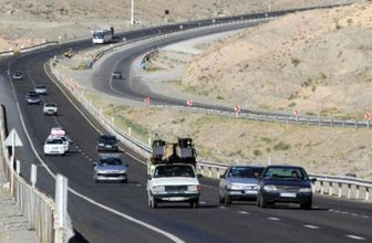 ترافیک نیمه سنگین در آزادراه کرج قزوین