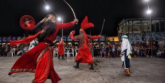 انتقال فرهنگ عاشورایی با تعزیه و تئاتر در پیاده روی اربعین ۹۸ /عکس