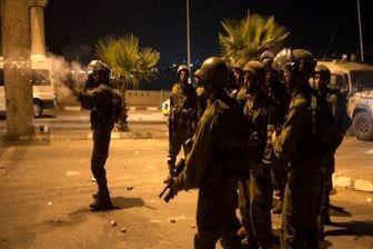 حمله نظامیان صهیونیست به تظاهرات فلسطینی ها