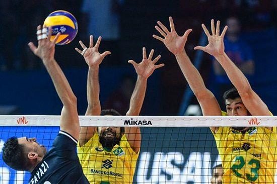 لیگ ملتهای والیبال؛ ایران ۲ - برزیل ۳
