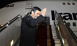احمدینژاد ایران را ترک کرد
